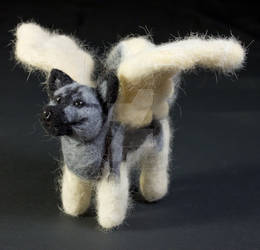 Needle Felted Elkhound Angel
