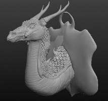 3D Dragon Head
