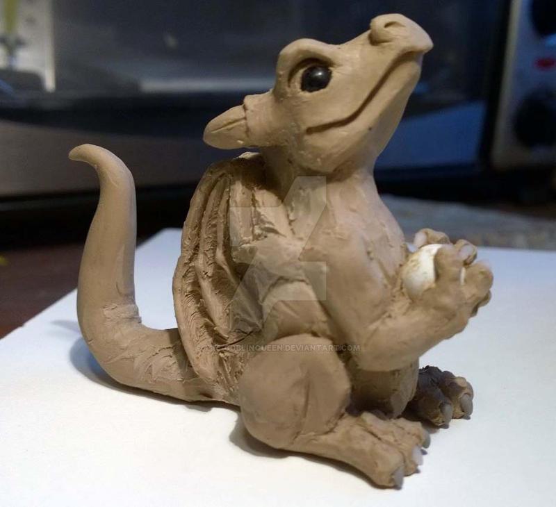 Baby Happy Dragon Work in Progress 2 by The-GoblinQueen