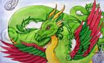 Amphithere Dragon 2 Watercolor