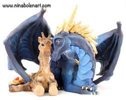 Giraffe and Dragon Commission Sculpture