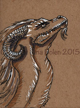 Dragon ACEO on toned paper #2