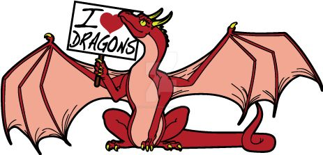 Red Dragon I love dragons pin design by The-GoblinQueen