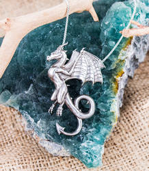 Dragon Wyvern Pendant by The-GoblinQueen