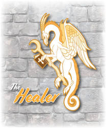 RPG Dragon Healer Enamel Pin Design by The-GoblinQueen