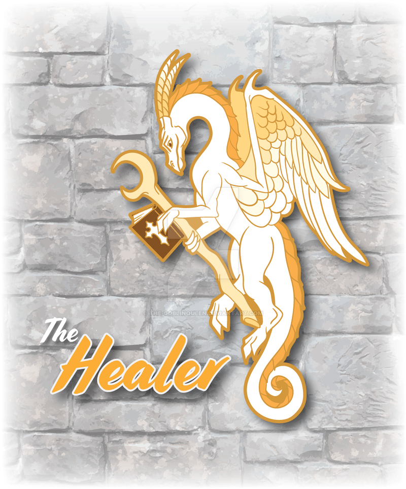 RPG Dragon Healer Enamel Pin Design by The-GoblinQueen on