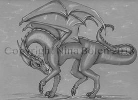 Snow Dragon Drawing