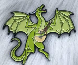 The Bard DnD Dragon Pin