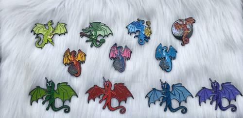 DnD Themed Dragon Enamel Pins