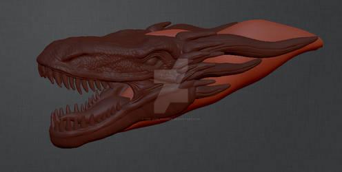 3D dragon head work in progress