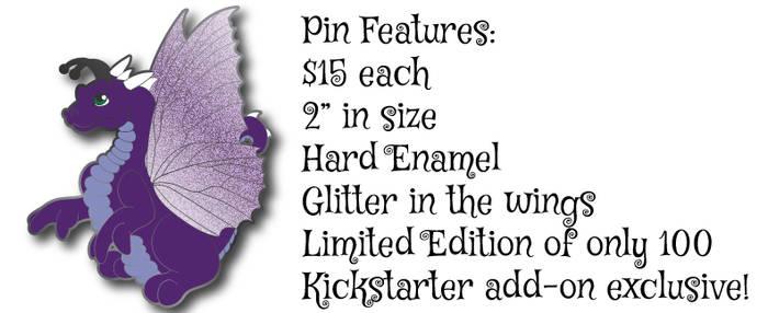 Dragon Flutter Hard Enamel Pin Design