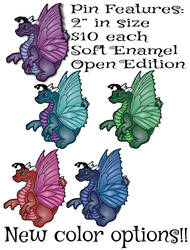 Soft Enamel Dragon Flutter Pin