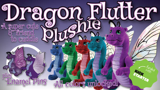 Dragon Flutter Plushie now in 5 colors!