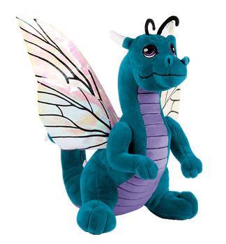 Teal Dragon Flutter Plushie