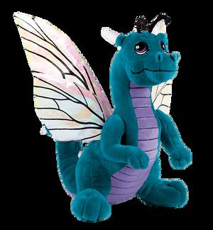 Teal Dragon Flutter Plushie