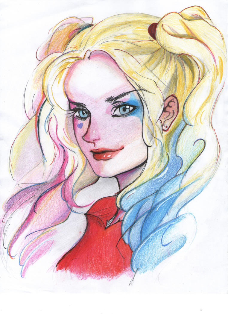 Harley Queen Dibujo By Lili Pnf On Deviantart