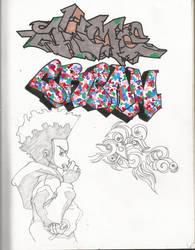 Graffiti and Huey by boot-cheese-3000
