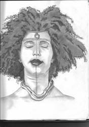 Afro-Brazilian headshot portrait by boot-cheese-3000
