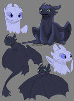 HTTYD3 Sketches by NiftyNightOwl