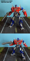AoE Evasion Mode Optimus Prime by Unicron9