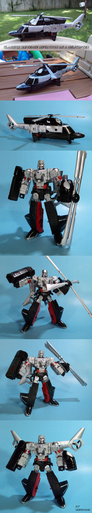 Classics Megatron as a Helicopter by Unicron9