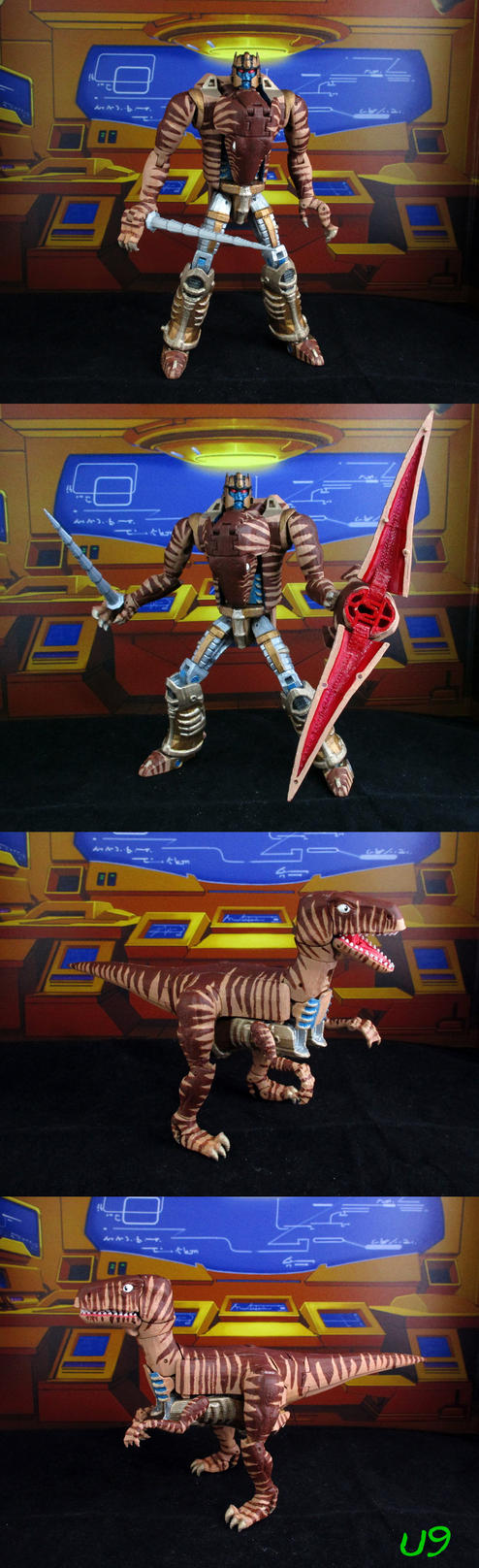 Steel Planet's BW Dinobot Painted by Unicron9