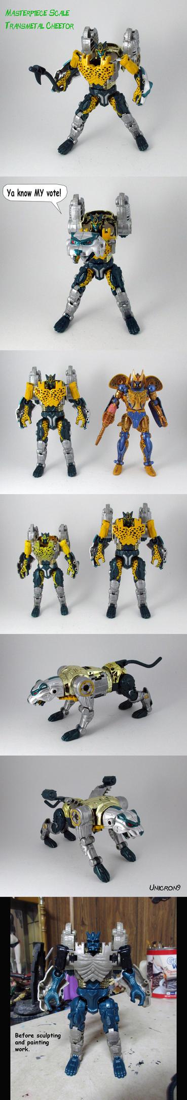 Masterpiece Scale Transmetal Cheetor by Unicron9