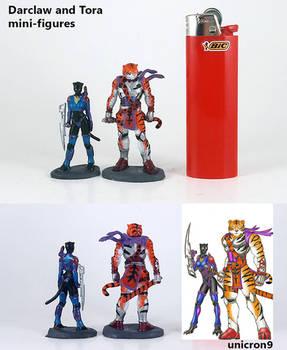 Darclaw and Tora SGG3K mini-figures