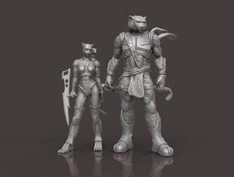 Darclaw and Tora-Mecha renders