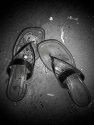 Sandals on Stone