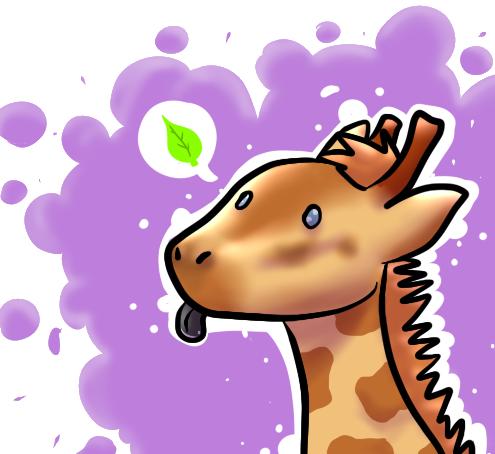 Giraffe by LittleNoodlez