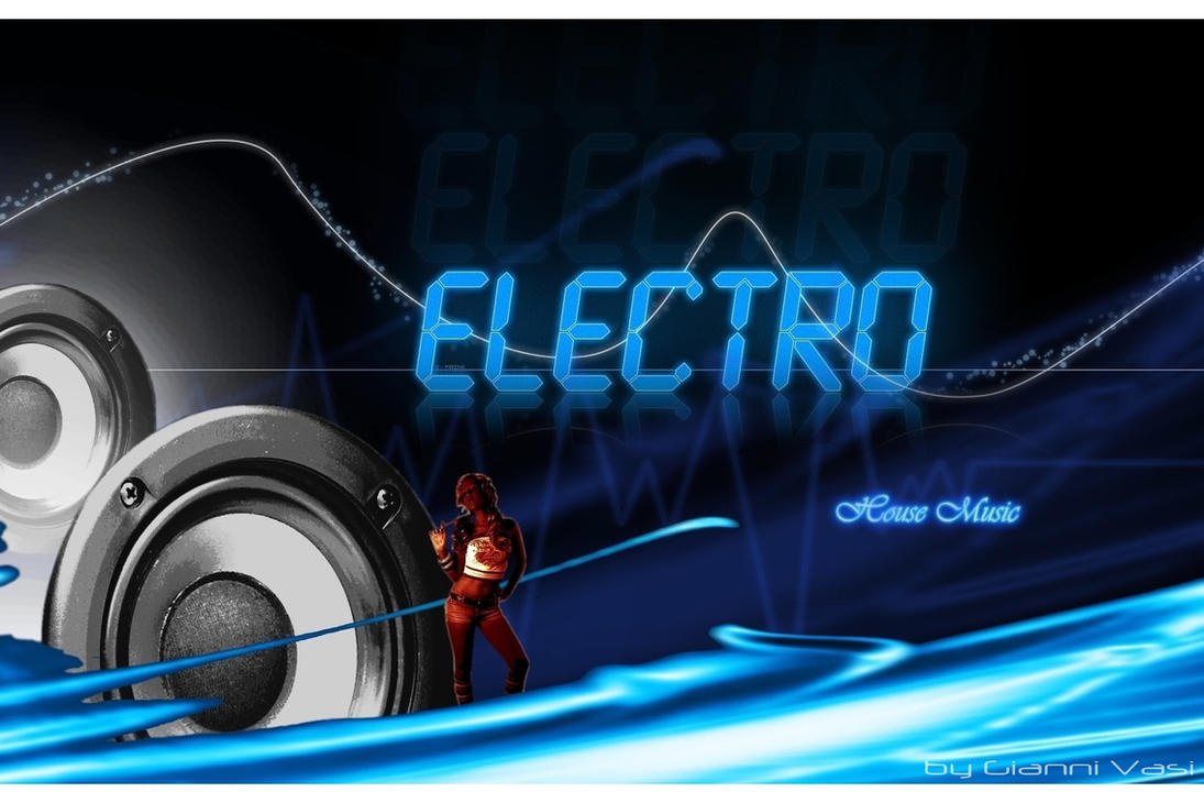 Electro house music poster by giannivasi on deviantart for House dance music