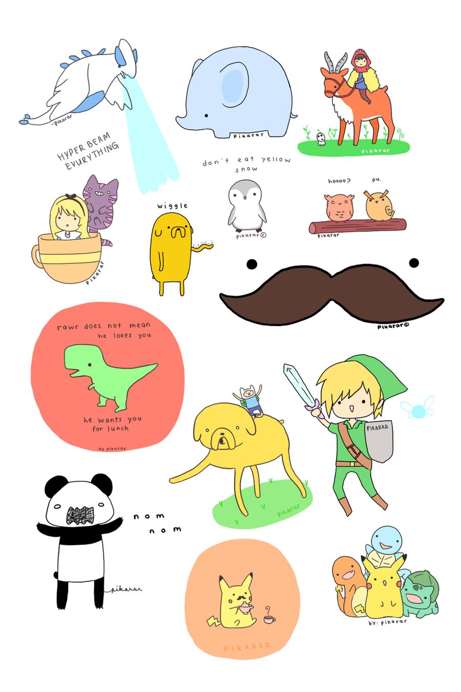 August Doodles by pikarar