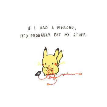STOP EATING MY STUFF by pikarar