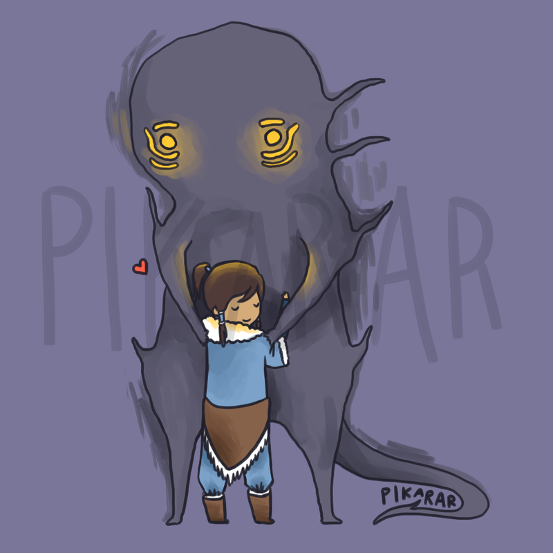 Korra and Spirits by pikarar