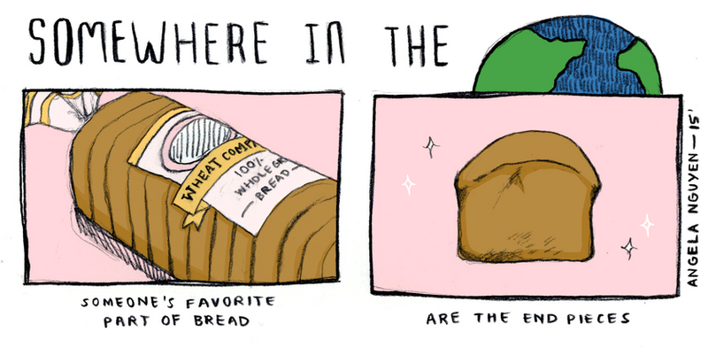 Somewhere in the World: Bread Ends by pikarar