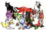 Group of Wolves