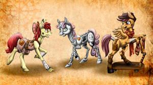 Cutie Mark Crusaders Steamponies! (yay!)