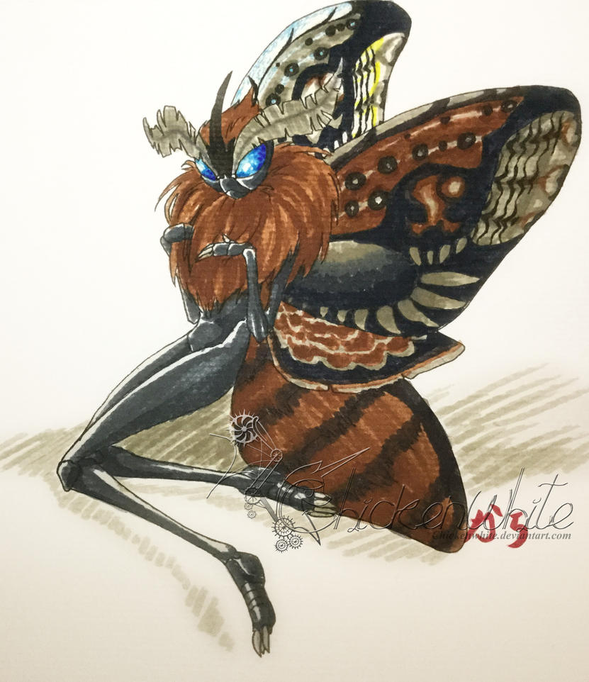 Vacation images - Moth fairy by Chickenwhite