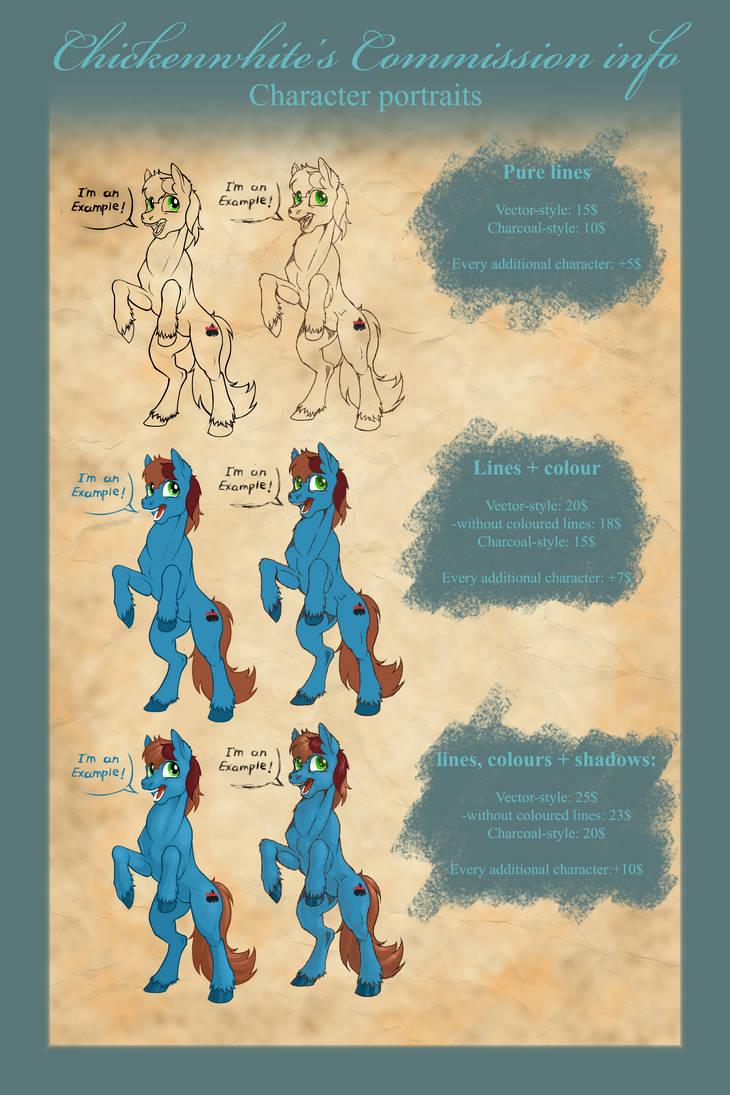 Commission info - Character portraits