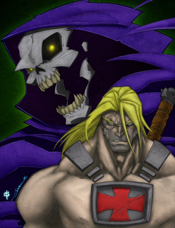 He-Man - Skeletor by Smitty-Tut