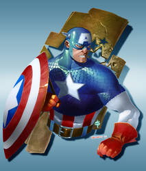 Captain America Bust by Smitty-Tut