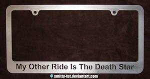 License Plate Frame Death Star