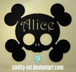 Metal Alice Wall Skull