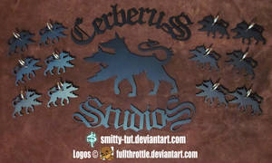 Logo and Keychains In Metal: Cerberus Studios