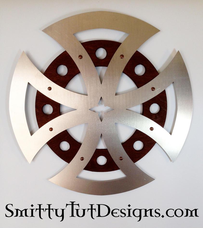 Circular-Cross-4-Dark-Wood by Smitty-Tut
