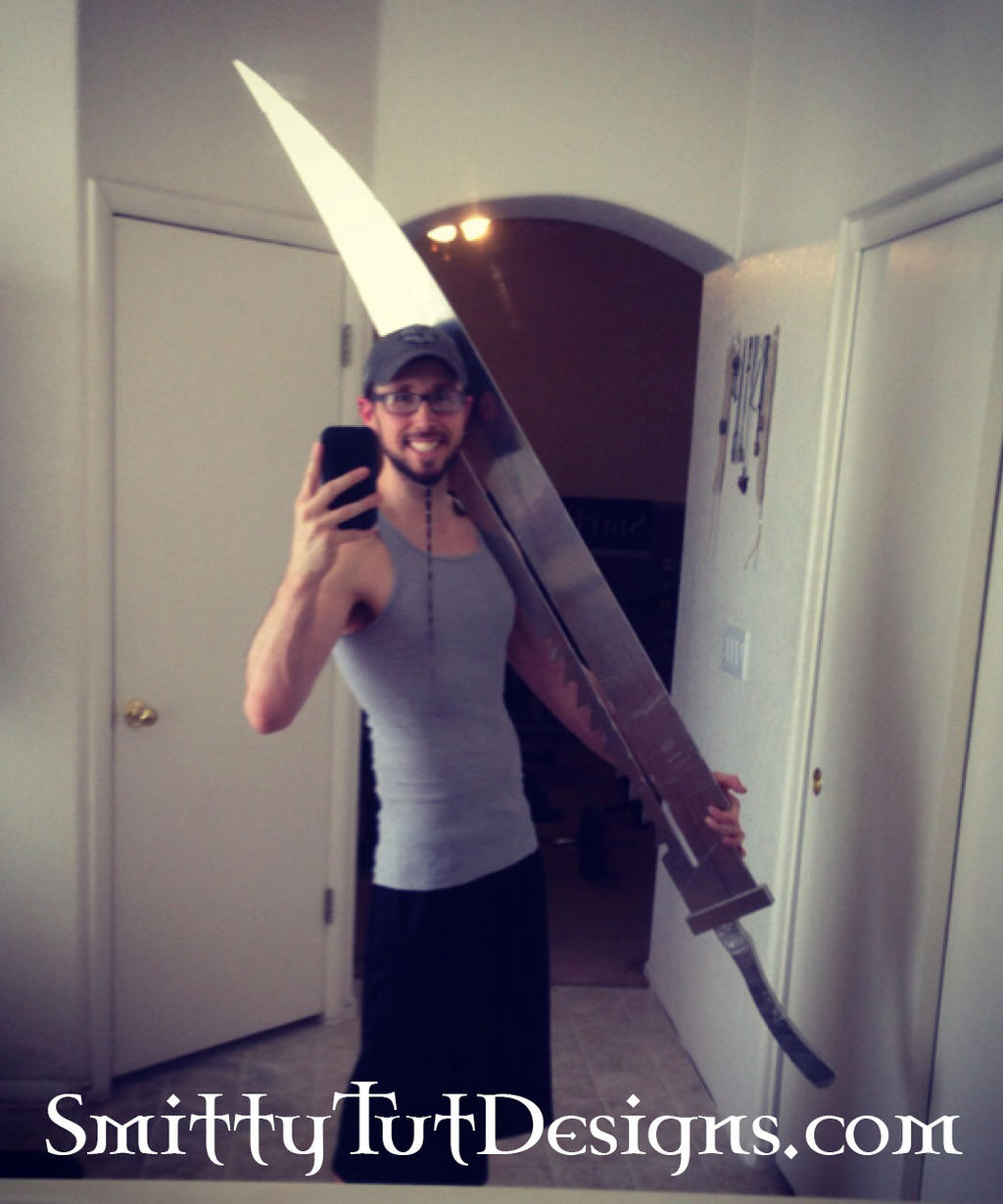 6.5 Foot Tall- Fully Aluminum Pyramid Head Sword