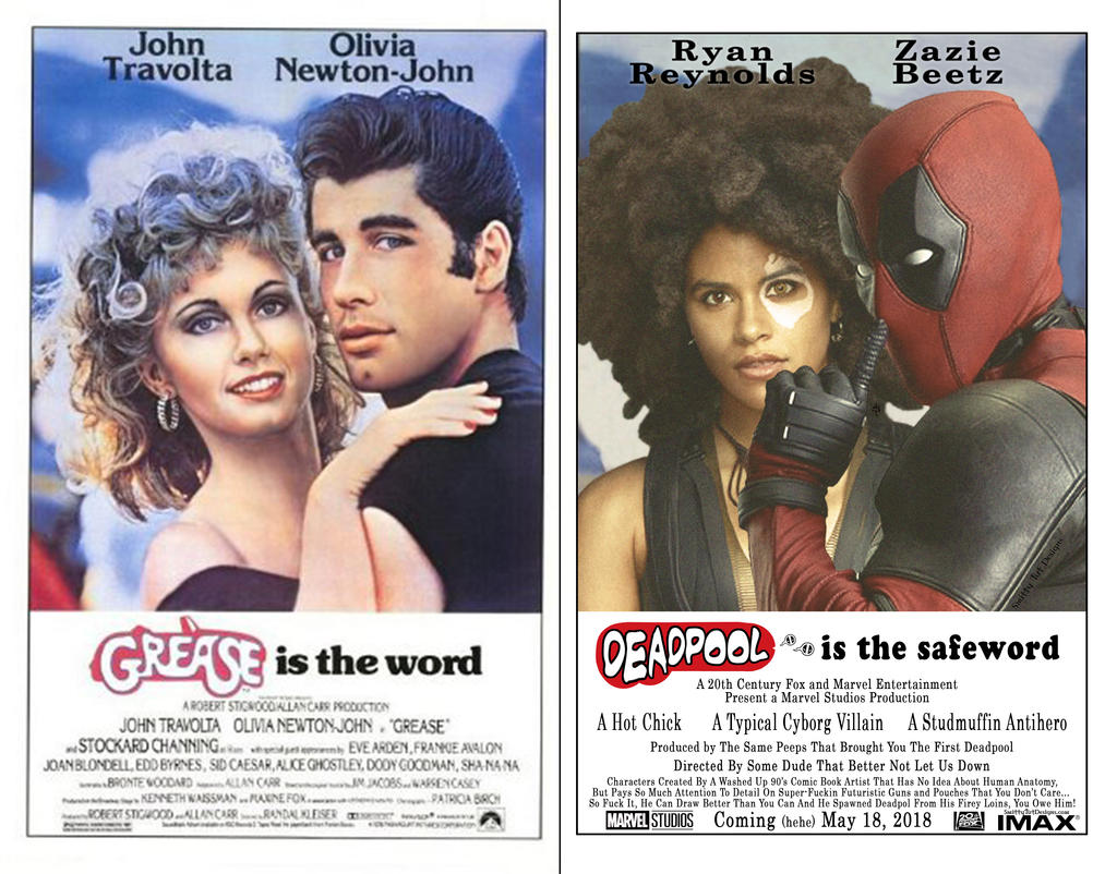 Deadpool Grease Mockup Poster