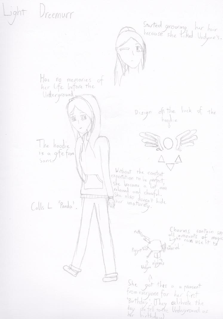 UnderNote Light Dreemur Ref-sheet. by Errand-Girl