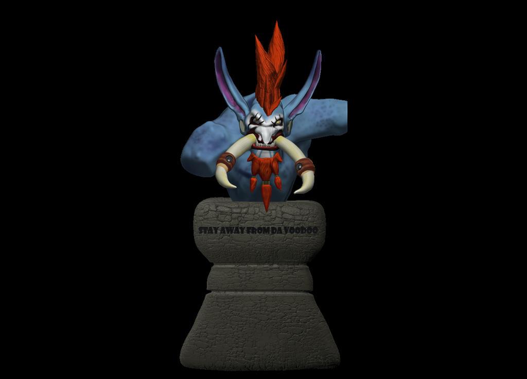 busto de Vol'jin fanart by Harapo